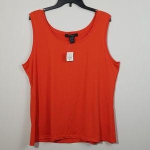 Ashley Stewart Orange Tank Top Size 22/24 NWT